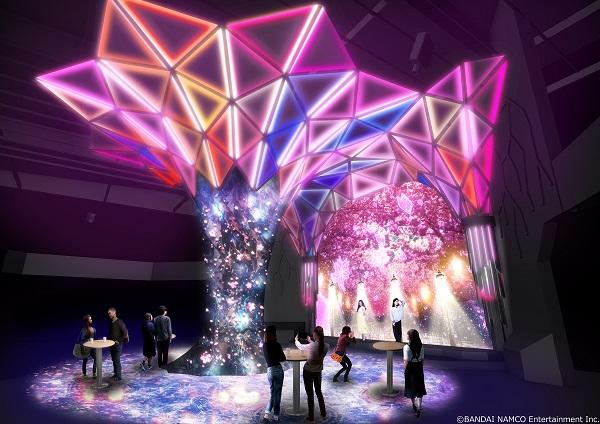 「VR ZONE SHINJUKU」でのデジタルお花見のイメージ