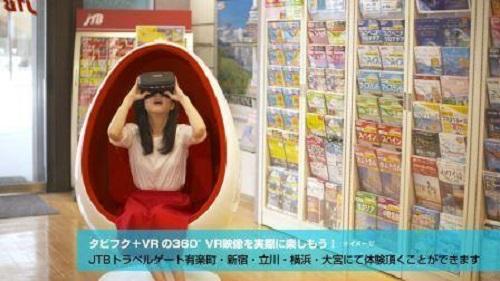 VR旅行体験イメージ画像