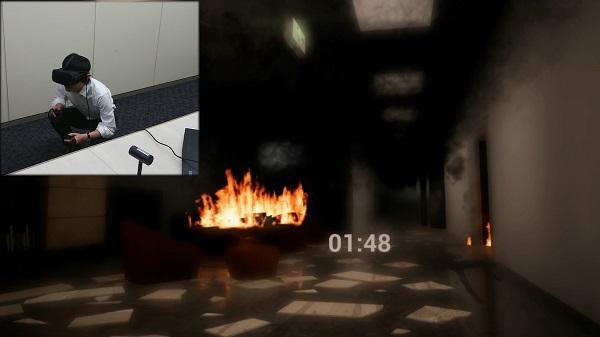 「避難体験VR」