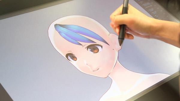 髪型のモデリング
